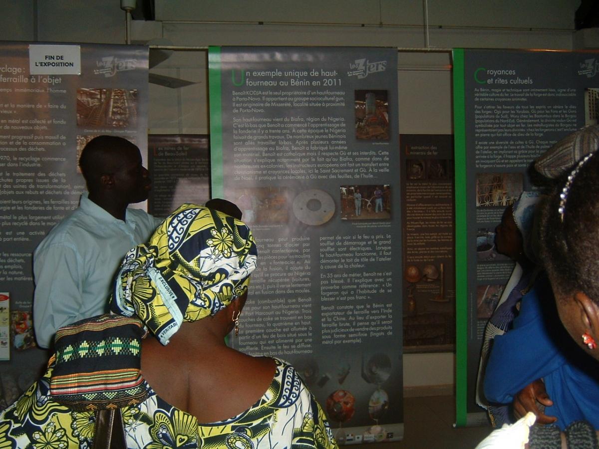 Inauguration de lexposition  Les 3 fers Parakou 2012Crédit photo Tidjani COFFE