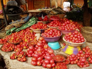 Adjarra : tomates et piments
