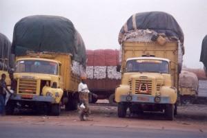 Parakou : transport du coton